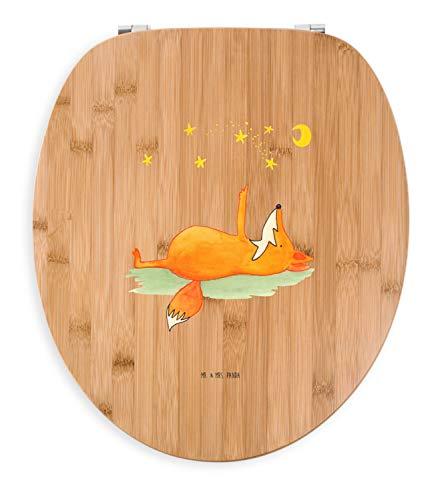 Mr. & Mrs. Panda Holz, Klobrille, Motiv WC Sitz Fuchs Sterne - Farbe Transparent