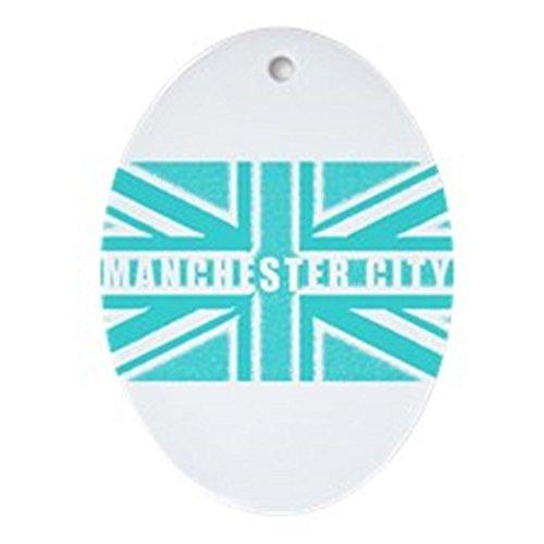 CafePress-Manchester City Schmuck Union Jack (Oval)-Oval Urlaub Weihnachten Ornament Manchester Trim