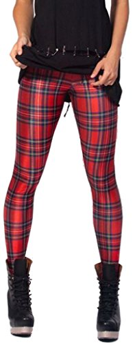 Tartan Plaid Leggings for 80s Punk Costume - standard size