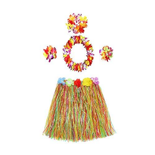 che Urlaubsparty-Zubehör, Plastik, Garland + Color Grass Skirt, 60 cm ()