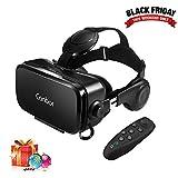 VR Brille, Canbor VR Virtual Reality Headset, FOV 120°mit Fernbedienung für 3D Filme und Spiele, Kompatibel mit iPhone,Samsung Sony und Handys mit 4.7- 6.2 Zoll Bildschirm