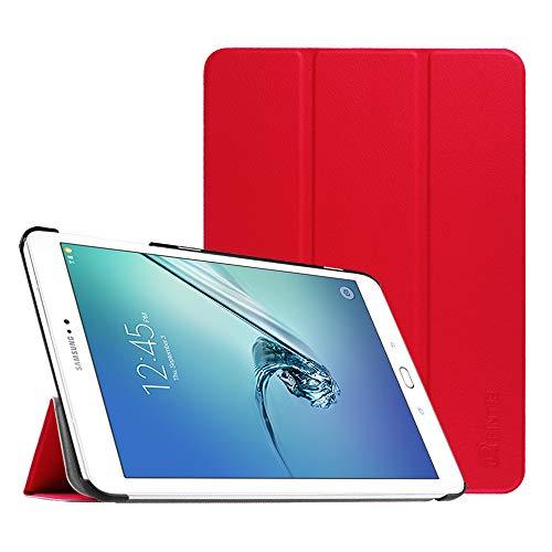 Fintie Samsung Galaxy Tab S2 9.7 Custodia - Ultra Sottile Di Peso Leggero Tri-Fold Smart Case Cover Sleeve Con Funzione Sleep/Wake per Samsung Galaxy Tab S2 9.7' T810N / T815N / T813N / T819N Tablet, Rosso