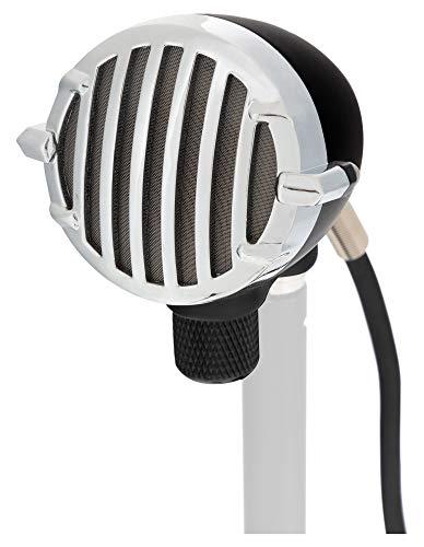 Pronomic HM-2 Dynamisches Mundharmonika Mikrofon,Rockabilly Gesangsmikrofon für Bühne und Studio,Vocal Microphone mit Metall Gehäuse mit integriertem Lautstärkeregler,Inkl. 3m XLR-Kabel,Schwarz
