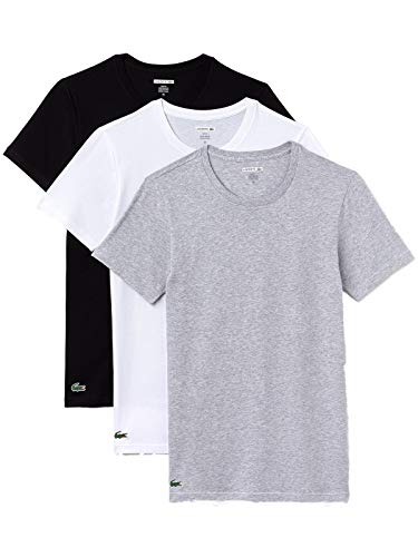 Lacoste Crew Neck T-Shirt 3er Pack Slim Fit Sortiert, L