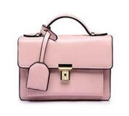 DFUCF Damen PU lässig Büro Beruf Umhängetasche Schiefer Tasche Handtasche Aktenkoffer Schroff Klassisch Hochzeit Party Jahreszeiten Blushing Pink