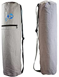 Bolsa de yoga »Mangala« / Mochila de yoga para esterillas de yoga de hasta 190 x 65 cm / gris