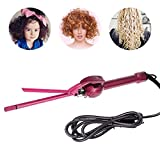 Mini Fer à Friser 9mm Fer à Boucler Professionnel Chopstick Styler Cheveux Céramique Fin Hair Curler Roller Conique Céramique Tourmaline - 360° Cordon Rotatif