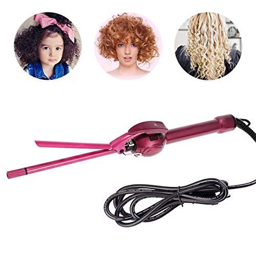 Mini rizador de 9 mm, rizador de pelo afro, rizador de cabello de cerámica de turmalina para cabello...
