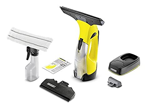 Karcher WV5 Premium Non-Stop Streak-Free Window or Glass Vacuum Cleaning Set with Interchangeable Battery and Charging