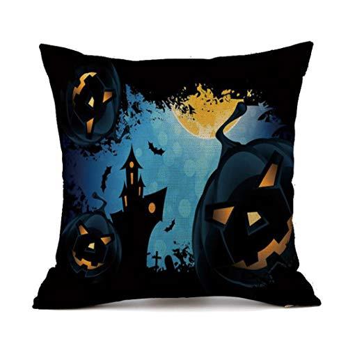 Halloween pillow cases divano in lino zucche fantasmi cuscino decorazioni per la casa,yanhoo copricuscini e federe,cuscini decorativi,protezioni per cuscini,per halloween, natale, san valentino