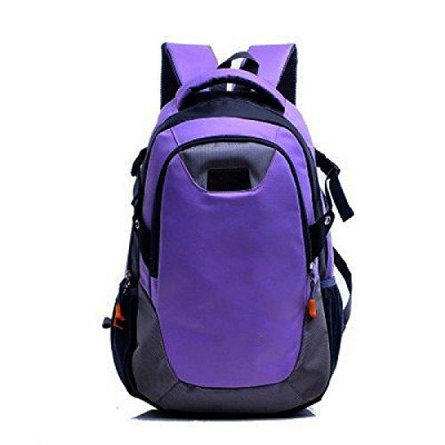 Freizeit Outdoor Sporttasche Bergsteigen Rucksack Große Kapazität Wandertasche,Green Violet