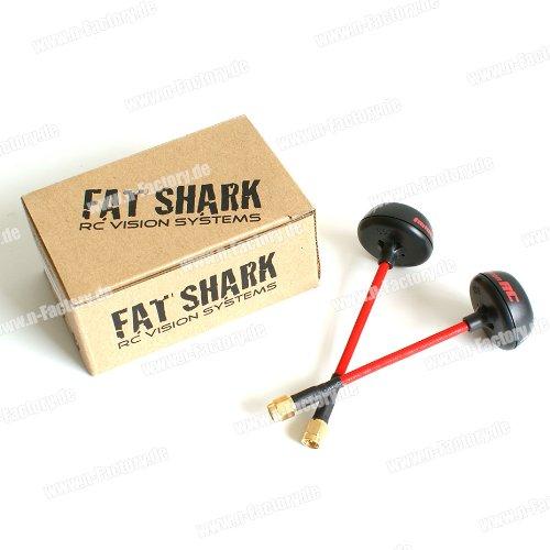 5.8GHz Fatshark spiroNET V2 antennes FPV Set - Cloverleaf - connecteur SMA (avec épingle) pour ImmersionRC N-FACTORY-DE