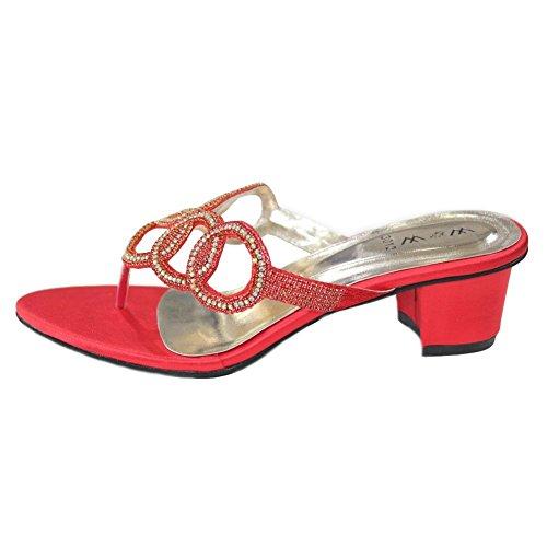 Wear & Walk UK , Sandales pour femme 37 Rouge
