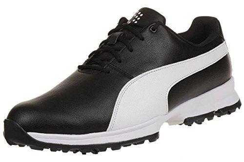 Puma Grip Cleated Schwarz Golf Schuhe Shoe Wasserdicht 188662 02 Black