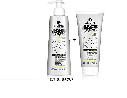 Scheda dettagliata Set Alama Professional CARBON Soft Mask Riequilibrante e Professional CARBON Shampoo Riequilibrante