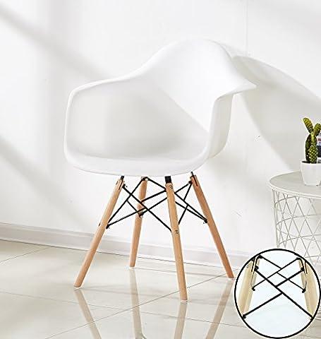 P & N Homewares® Romano Da Moda Wanne Stuhl Kunststoff Retro Esszimmer Stühle weiß schwarz grau rot gelb grün weiß