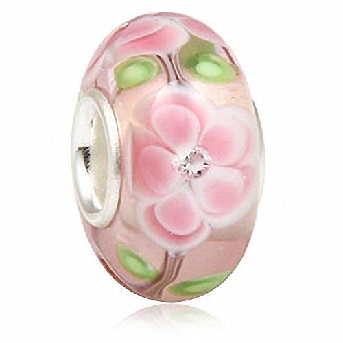 Hawaii Rosa Ciondolo a forma di fiore con perline in