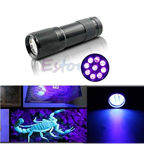Simplelife-Mini-Taschenlampe, 9 LEDs, UV-Strahlung, Schwarzlicht-Taschenlampe