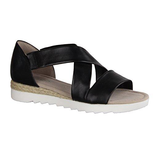 Gabor Shoes 62.711, Sandali Donna schwarz (Jute)