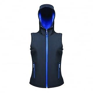 Regatta Professional Womens/Ladies Arley Hooded Softshell Bodywarmer (18 UK) (Navy/Dazzling Blue)