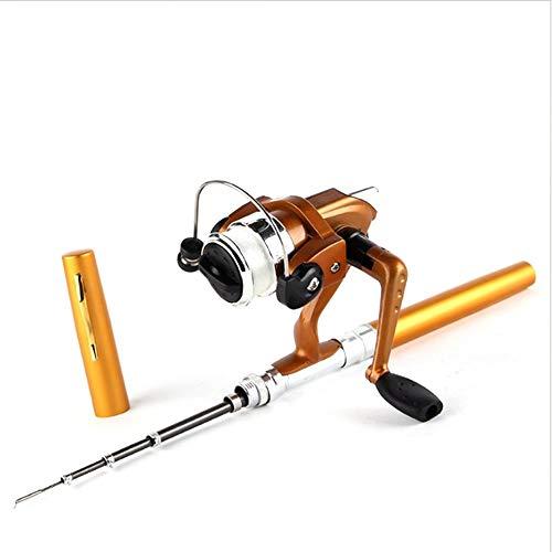 Oyamihin Super Leichte Tragbare Pen Rod Angeln Set Mini Teleskop Angelrute Pole + Angelrolle Angelrolle Zubehör