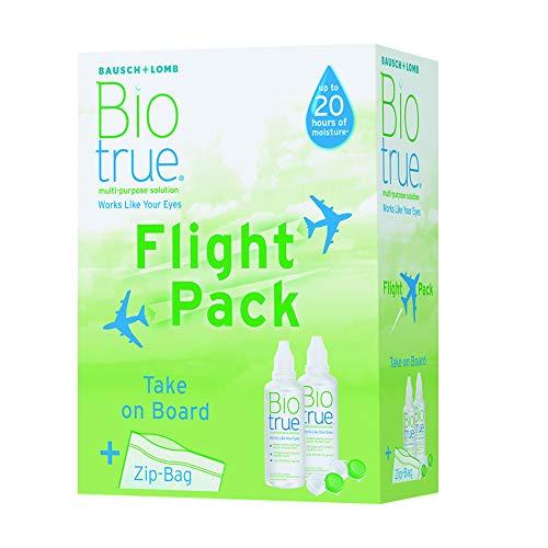 Bausch & Lomb Pflegemittel für weiche Kontaktlinsen Flight Pack, (2 x 60 ml)