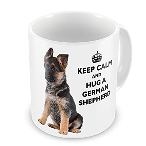 Keep Calm And Hug A German Shepherd Novelty Gift Mug