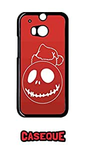 Caseque Red Santa Back Shell Case Cover For HTC One M8