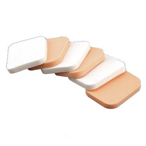 6 Eponge Houppe pour Poudre Fond de Teint Maquillage Démaquillage