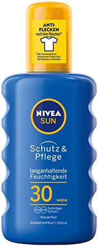 NIVEA SUN Sonnenspray im 1er Pack (1 x 200 ml), feuchtigkeitsspendendes Sonnencreme Spray mit LSF 30, pflegende und wasserfeste Sonnenlotion -