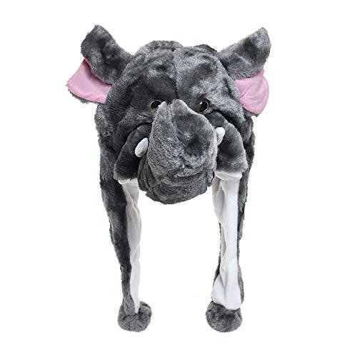 tze Hut Kopfbedeckung Kostüm Karneval Cap 3Hat (One Size, Elefant) ()