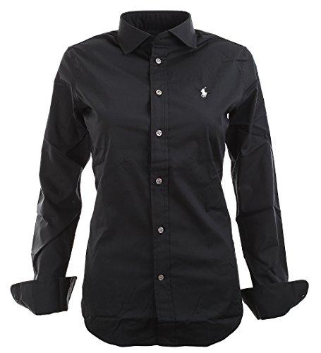 b12103491ee478 Ralph Lauren Polo Damen Bluse Custom Fit Schwarz Größe 4 (S)