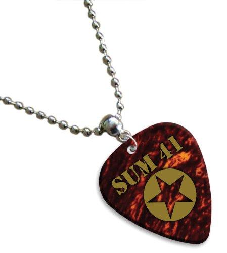 Sum 41 Hot Foil Gitarre Pick Kette Plektron ( Tortoise Shell )