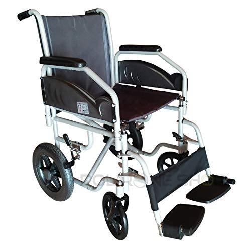 polironeshop satis carrozzina pieghevole da transito sedia a rotelle leggera