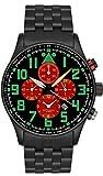 Astroavia Herren-Armbanduhr Alarm Chronograph Quarz V19S