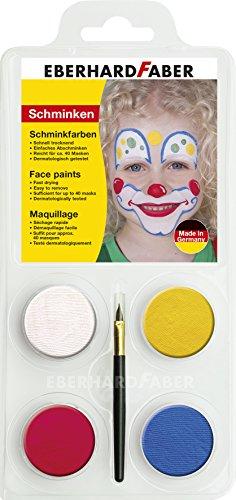 Eberhard Faber Schminkset Clown, 1er Pack (1 x 4 Stück)