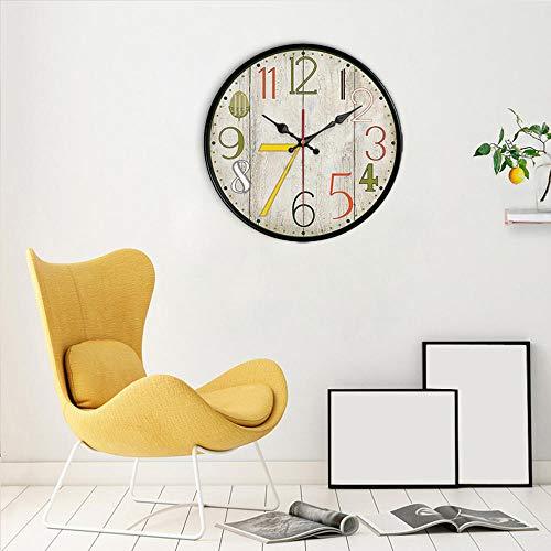 unbedeutende Modezeithauptschlafzimmer-Bürodekoration der amerikanischen Retro- Uhrwanduhr-kreativen Wand des Wohnzimmers@Sub-Light Gray_12 inches ()