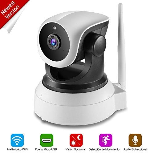 NEXGADGET Cámara IP de Seguridad HD WiFi Vigilancia USB Puerto de Carga Detección Movimiento Visión Nocturna Interior P2P Compatible con iOS y Android ( Nueva Versión )