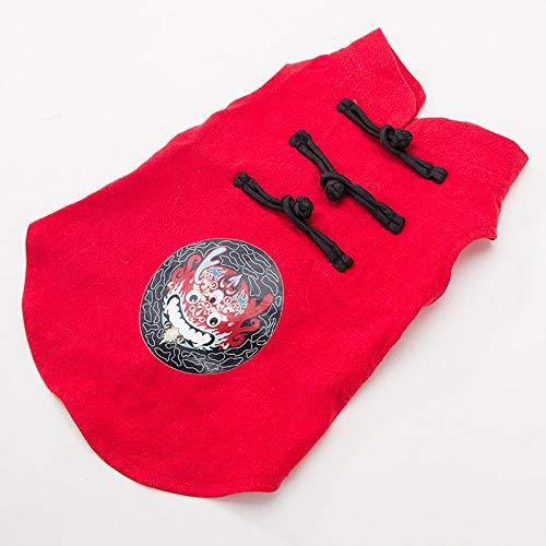 LLZZSS Teddybär Kleiner Hund Retro chinesischen Stil pet Tang Dress Shirt hündchen Shirt Clothing m Code rot (Halloween-party Die Für Dress-code)