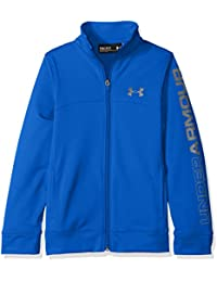 Under Armour Pennant Warm-up Jacket-ubl//GPH–Cazadora con Cremallera para niño, Pennant Warm-up Jacket-ubl//GPH, Ultra Blue, FR : L (Taille Fabricant : YLG)