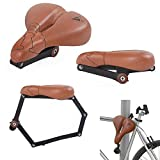 SEATYLOCK COMFORT CLASSIC BROWN Antifurto Sellino e lucchetto ibrido per la tua bicicletta - Premium Drill Sicuro Resistente - massima protezione Marrone