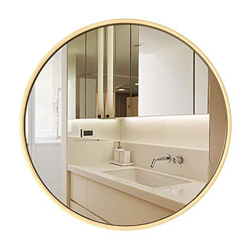 Bathroom mirror Badezimmerspiegel Rundes Badezimmer Wandmontierter Spiegel-Metallic-Rahmen Große Kosmetikspiegel Rasierspiegel Vergrößerungsspiegel Dusche Make-up Spiegel-Schlafzimmer Wohnzimmer Flur