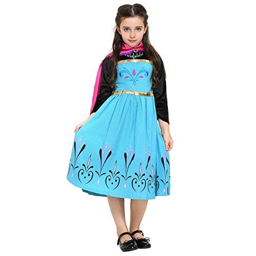 Imagen de katara  vestido de disfraz de princesa, inspirado por el vestido de coronación de elsa de