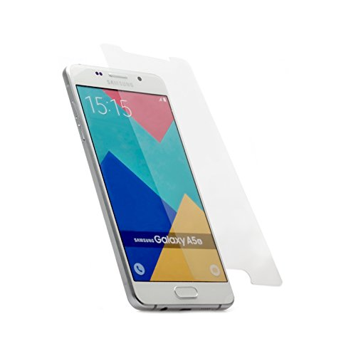 iCues Samsung Galaxy A5 Modell 2016 | iCues Panzerglas Klar | Full Screen Schutz Panzerglasfolie Tempered Glass Glasfolie Display Glas Protector Glasschutzfolie Panzer Folie Schutzfolie Schutz