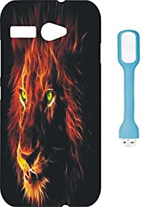 BKDT Marketing Printed back cover for Intex Aqua R3 with USB LED Light