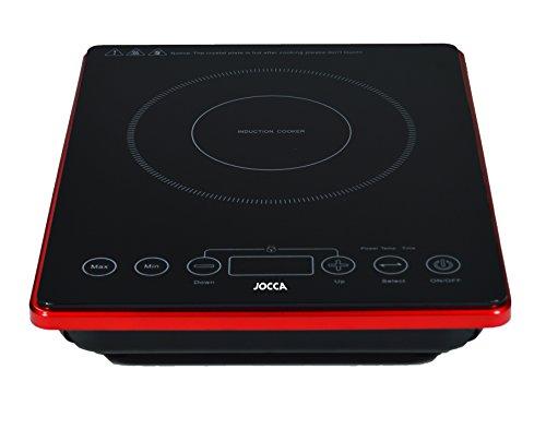 Jocca 9997 Placa de inducción portátil con Superficie de Cristal y Pantalla LCD, 2000 W, Negro