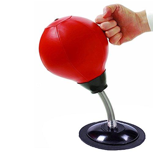 ZREAL Stress Relief Desktop Punching Ball Dekompression für Erwachsene mit starker Saugnapf