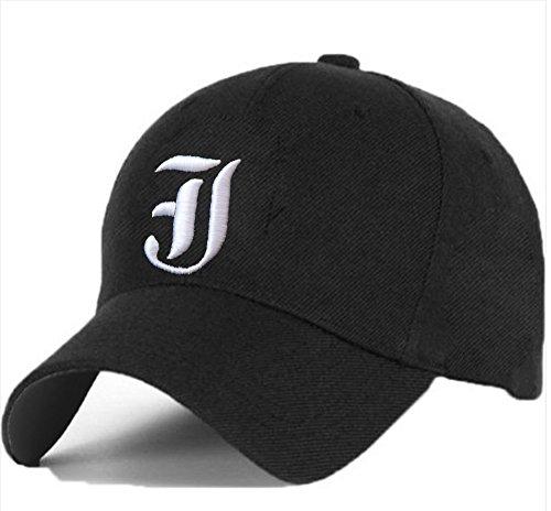 Cotton Baseball Mütze Cap Caps Gothic 3D A-Z BAD SWAG schwarz Snapback with Adjustable Strap Snap Back (J)