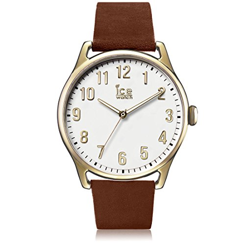 Ice-Watch - ICE time Caramel White - Montre marron pour homme avec bracelet en cuir - 013050 (Large)