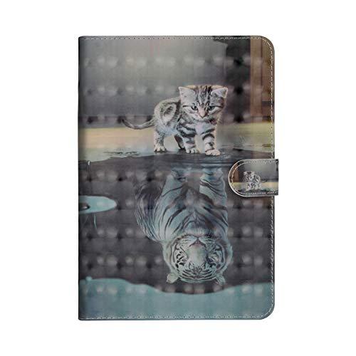 Felfy Kompatibel mit Amazon Kindle Fire HD 10 2015/2017 Hülle Case Leder Flip Case PU Leder Wallet Tasche Tablet Klappständer mit Ständer Funktion und Kartenfach SchutzHülle Stoßfest Cover Case